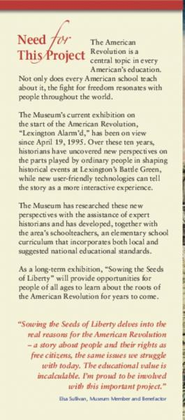 Seeds of Liberty brochure - page 4