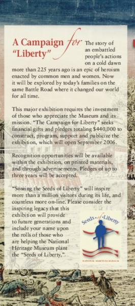 Seeds of Liberty brochure - page 5